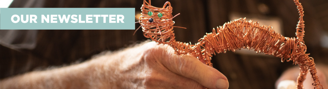 our-newsletter-header-graphic-cat-copper-wire-art